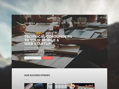 Arkenea design web design free psd psd website free