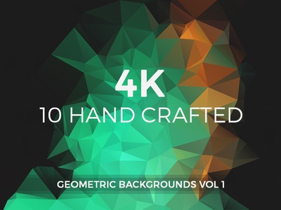 Hand crafted Geometric Backgrounds