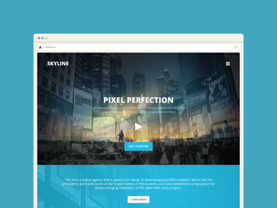 Skyline responsive design one page template bootstrap grid design bootstrap grid bootstrap 3 psd template real estate web design creative web design creative bussiness