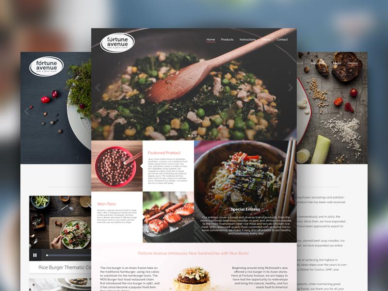 Concept Fortune Avenue Website website design food website website avenue fortune concept