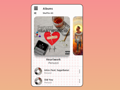 Music Player. Albums