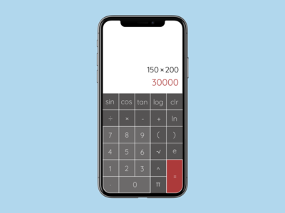 Daily UI Challenge. Day4. Calculator Interface Design