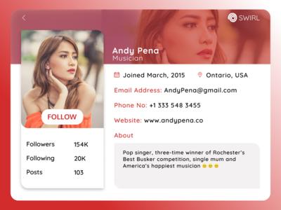 Daily Ui Challenge 006. User Profile Design