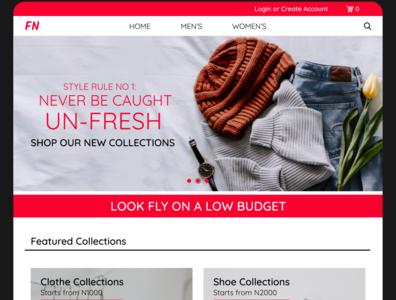 E- Commerce Site Design