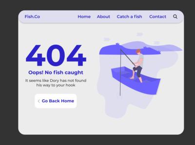 daily UI challenge Day 8. 404 Error page Design