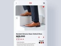 Daily UI Challenge 012. E-Commerce site Design