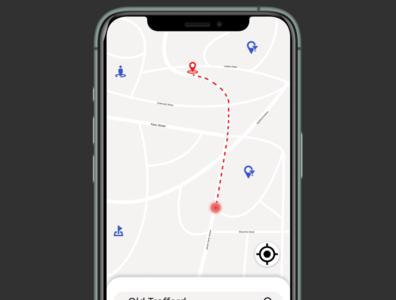 Daily UI Challenge 020. Location Tracker