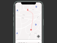 Daily UI Challenge 020. Location Tracker