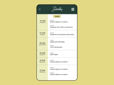 DAILY UI 042. TO DO APP