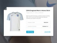 Football Shirt Product Card