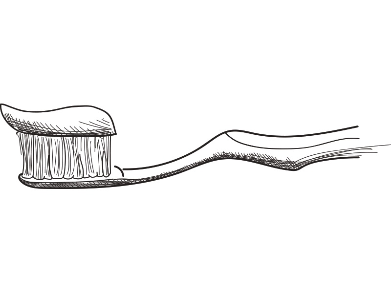 Drawing Straight Lines With Brush In Photo : Toothbrush drawing by simon guiver dribbble