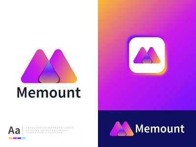M Letter Logo | Memount | Brand Identity icon logotype logos illustration app vector design logo logo design brand identity branding branding logo