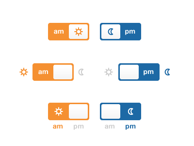 Am pm switches