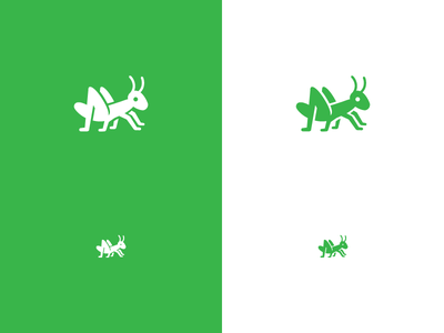 """Sprig"" nature insect bug grasshopper logo"
