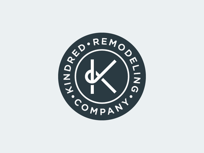 Kindred Remodeling Co 2 circle k typography company remodel remodeling kindred