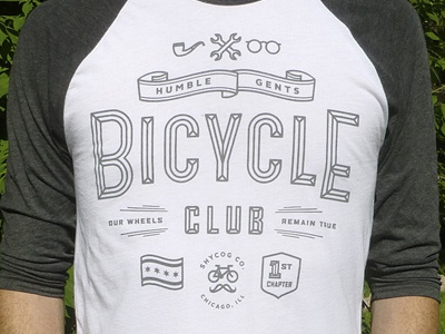 Humble Gents Bicycle Club shirt vector bicycle club humble chicago wrench glasses pipe grey