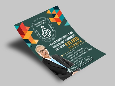 A5 Pamphlet mockup flyer design advertisement design pamphlet