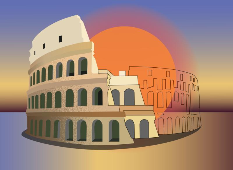 архитектура колизей vector дизайн illustration