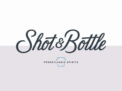 Shot & Bottle Identity typography bar restaurant script typography logo branding