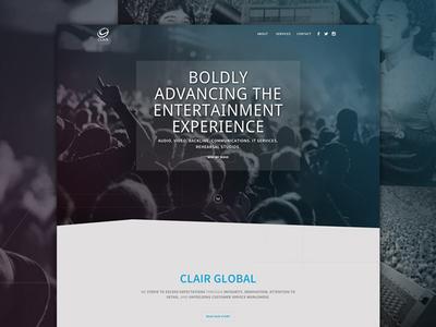 Clair Global Website Design