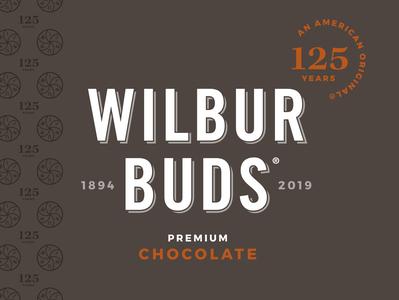 Wilbur Buds 125th Anniversary Logo