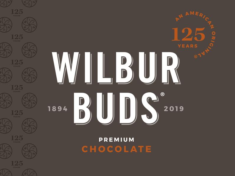 Wilbur Buds 125th Anniversary Logo anniversary identity design branding chocolate