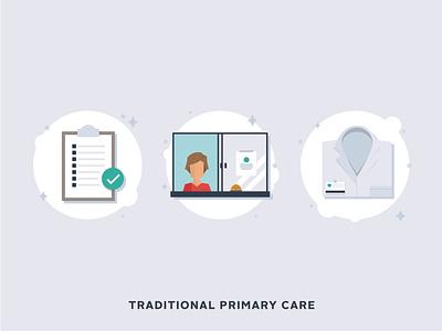 Direct Primary Care/Concierge Medicine Icons illustration icons concierge medicine medical icons