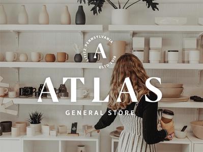 Atlas General Store store logo branding