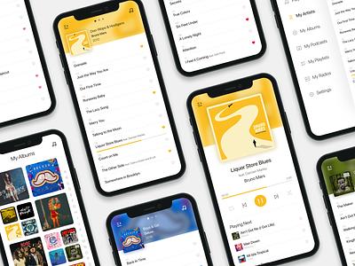 Music Player - DailyUI - 009 dailyuichallenge dailyui figma playlist player mobile music art music player music app music design ux ui app app design colorful