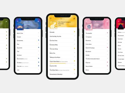 Music Player Concept Details colorful colors figma list music art album cover ux ui design mobile app album playlist music player music app music