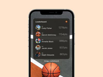 Leaderboard - DailyUI - 019 ux app ui dailyuichallenge dailyui component figma darkmode leaders game ios14 widget ios basketball gaming results leaderboard