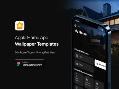 Apple Home App Wallpaper Templates Figma Community File smart homekit ipados macos download kit freebie template wallpaper community figma smart home ios ios 15 apple app home