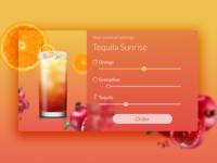 Tequila Sunrise Settings - DailyUI007