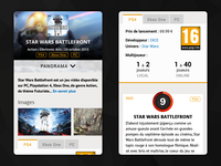 Gamekult Mobile Website UI - Main Screen