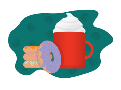 Hot Chocolate and Donuts