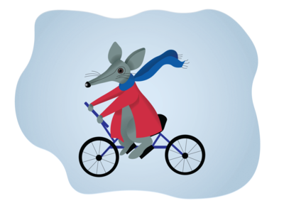 Terrance the cycling mouse
