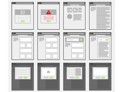 Little Boxes wireframe workflow user experience ux