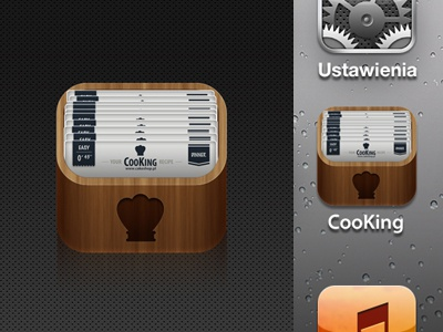 CooKing app icon icon app cook king box recipe