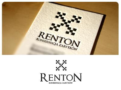 Renton logo ci logo renton business card card