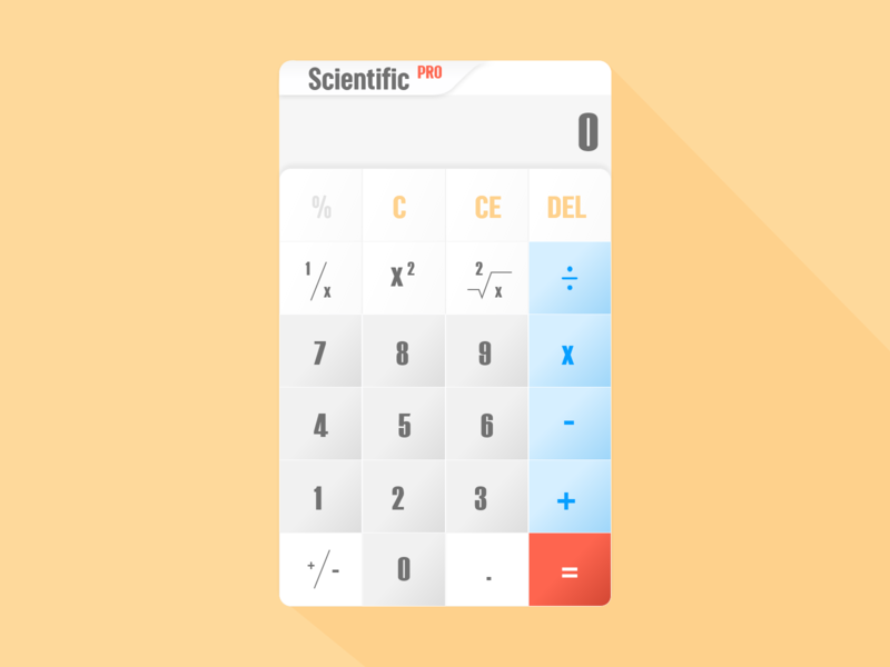 Day 4   DailyUI - Calculator colorpalette design ux dailyui app design xd ui