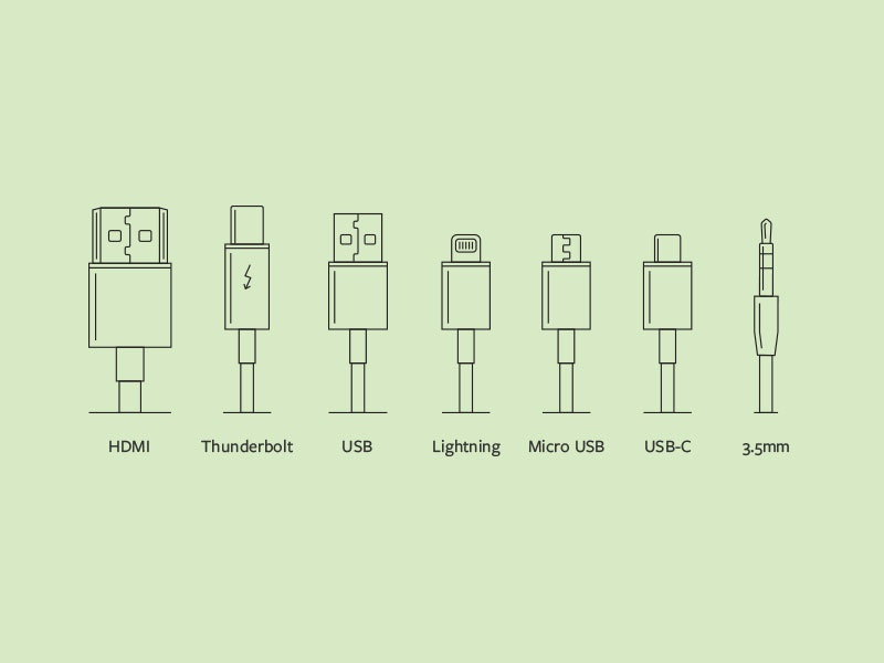 Cable Illustrations moshi monoweight single-weight icon illustration diagram cable cables