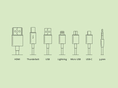 Cables moshi monoweight single-weight icon illustration diagram cable cables