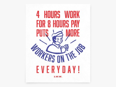 Why Not? socialism keynes overworked poster a better world is possible labor workers unions utopia leisure iww 1930s