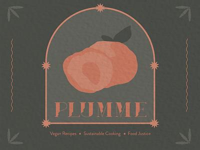 Plumme illustrator vegan logo branding design