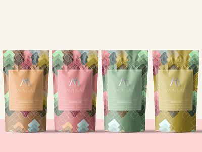 Maisal Chai vector logo design logo design branding brand design packaging package design packaging design packagedesign pattern package graphicdesign
