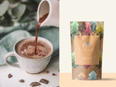 Maisal Chai Packaging (Chocolate) branding logo design graphicdesign coffee packaging tea packaging coffee tea label packaging label design label packaging package design