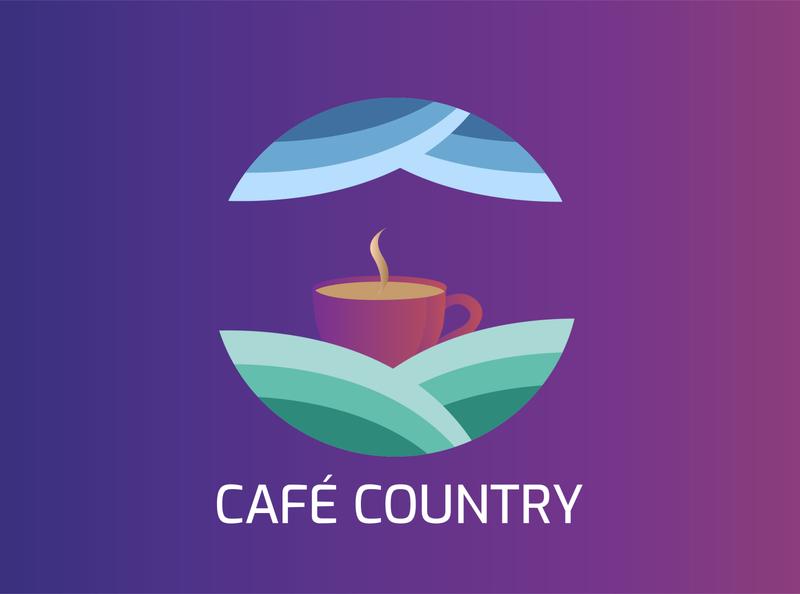 Cafe Country | Branding cafe branding cafe logo cafe restaurant branding concept brand identity identity brand design logo branding logo design graphicdesign