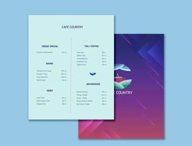 Cafe Country | Menu cafe branding menu card menu design menu branding concept brand design logo identity brand identity logo design branding graphicdesign