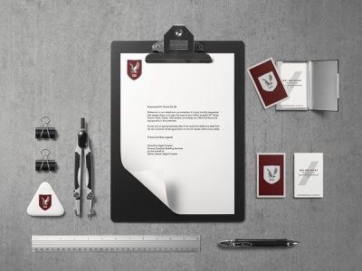 Security Company - Stationary identity design logo design logodesign branding design brand design logo identity stationary business card branding concept branding and identity brand identity branding graphicdesign