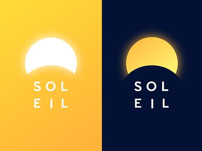 Soleil gradient branding vector flat color design logo